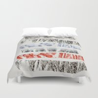 tape Duvet Covers featuring Nature Tape by Monty