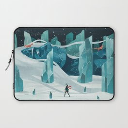 The wanderer and the ice forest Laptop Sleeve