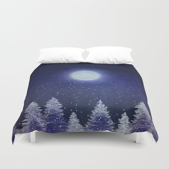 Winter song. Duvet Cover