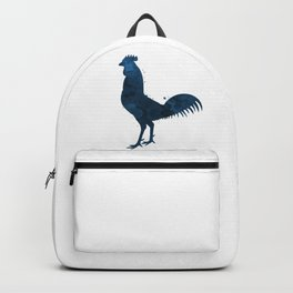 Rooster Blue Pattern Backpack