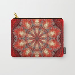 Red Vintage Flower Background Pattern Carry-All Pouch