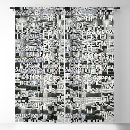 Confused Images Behind the Interface (P/D3 Glitch Collage Studies) Blackout Curtain