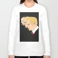 shaun of the dead Long Sleeve T-shirts featuring Simon Pegg - Shaun Of The Dead, Hot Fuzz and The World's End by Tomcert