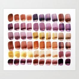 Brushstroke Colour Mixing 2 Art Print
