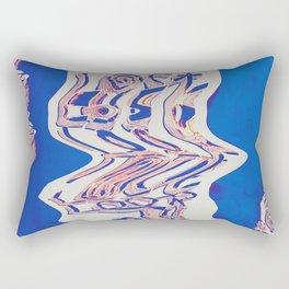 Lost Loop (Blue Glitch ver.) Rectangular Pillow