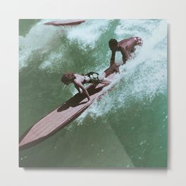 Surf's Up Vintage Photo Metal Print