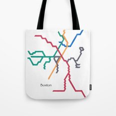 Boston Subway - The T Tote Bag