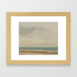 Gustave Courbet Calm Sea 1866 Painting Framed Art Print