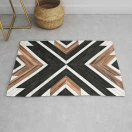 Urban Tribal Pattern No.1 - Concrete and Wood Rug