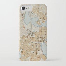 Vintage Map of Helsinki Finland (1909) iPhone Case