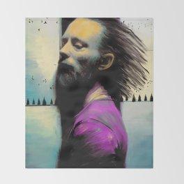 "Thom Yorke ""Radiohead"" Throw Blanket"