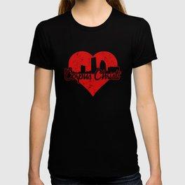 Retro Corpus Christi Texas Skyline Heart T-shirt