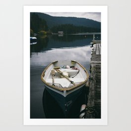 Lake + Boat Art Print