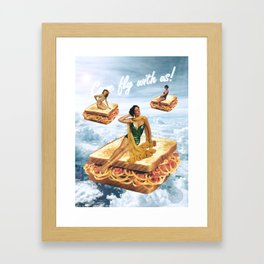 Sandwich Airlines - Come fly with us! Framed Art Print