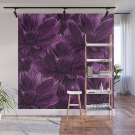 Purple Floral Abstract Wall Mural