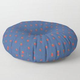 Blue Strawberry Field Floor Pillow