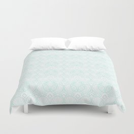 Miami Beach Motel- Mint Duvet Cover