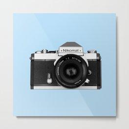Nikomat camera Metal Print