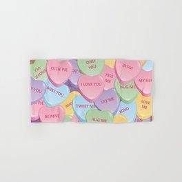 Valentine's candies Hand & Bath Towel