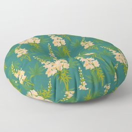 Snapdragon Cannabis Pattern Teal  Floor Pillow