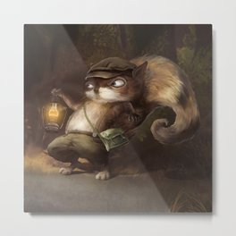 Little Squirrel Metal Print