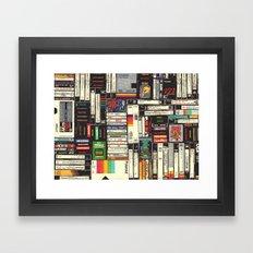 Cassettes, VHS & Atari Framed Art Print