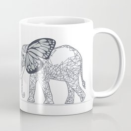 C13D Butterfly Elephant Coffee Mug