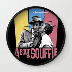 A Bout de Souffle Wall Clock