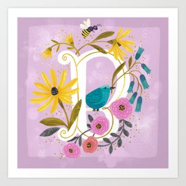 Artsy Alphabet: B Art Print