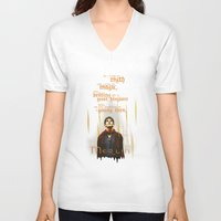 merlin V-neck T-shirts featuring Merlin: Myth and Magic by Past the Lamp Post