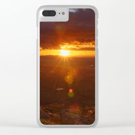 Valley Sunset Clear iPhone Case