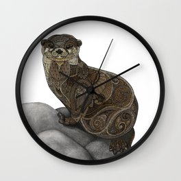 Otter Wall Clock