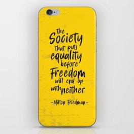 Milton Friedman iPhone Skin