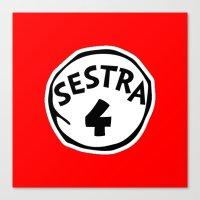 cosima Canvas Prints featuring Sestra 4 (Helena - Orphan Black) by Illuminany