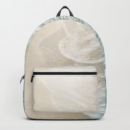Soft Teal Gold Ocean Dream Waves #1 #water #decor #art #society6 Backpack