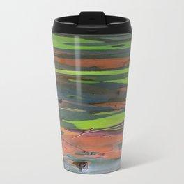 Rainbow Eucalyptus Abstract colorful Tree Bark Travel Mug