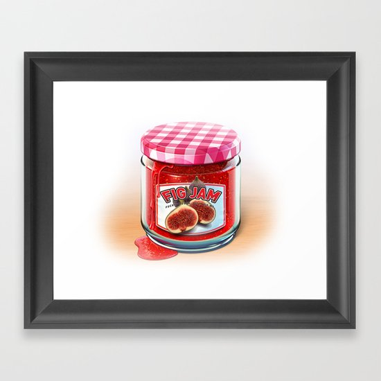 FIG JAM Framed Art Print