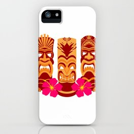 Tiki Statues Set iPhone Case