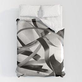 Black paper stripes Comforters