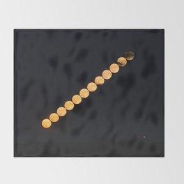 Summer Moon Throw Blanket