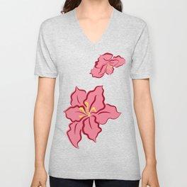 Poinsettia - pink Unisex V-Neck