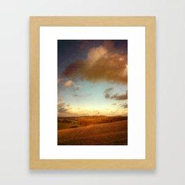 red country Framed Art Print