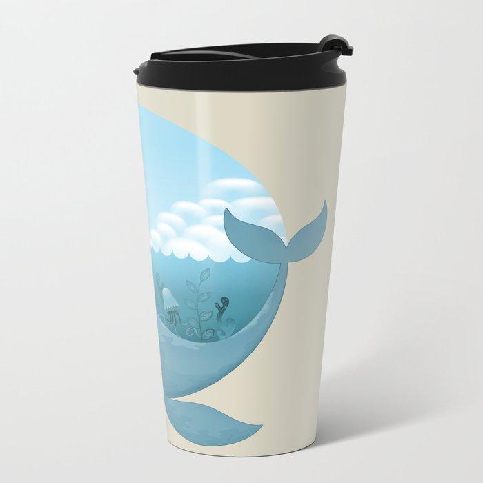 Whale & Seagull (US and THEM) Metal Travel Mug