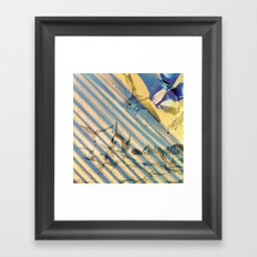 a wave of experience  Framed Art Print