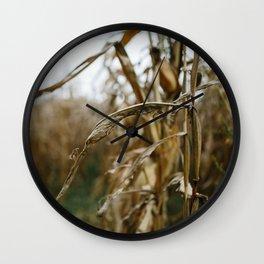 Autumn Cornstalk II Wall Clock