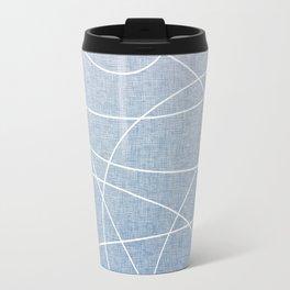 Scribble Linen - Denim Travel Mug