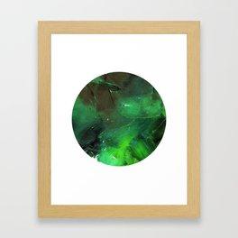 Emerald Occulus Framed Art Print