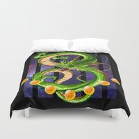 dragon ball Duvet Covers featuring Dragon by TxzDesign