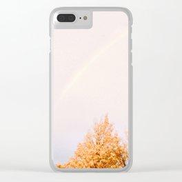 Autumn Rainbow Clear iPhone Case