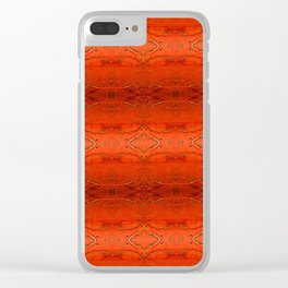 Rustic Orange Geometric Southwestern Pattern - Luxury - Comforter - Bedding - Throw Pillows - Rugs Clear iPhone Case